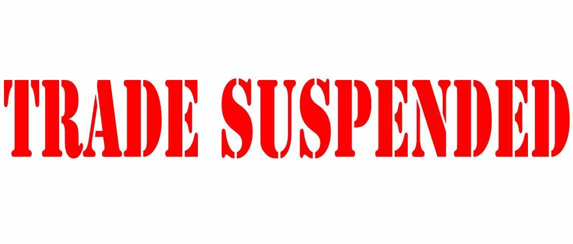 trade suspended logo mm