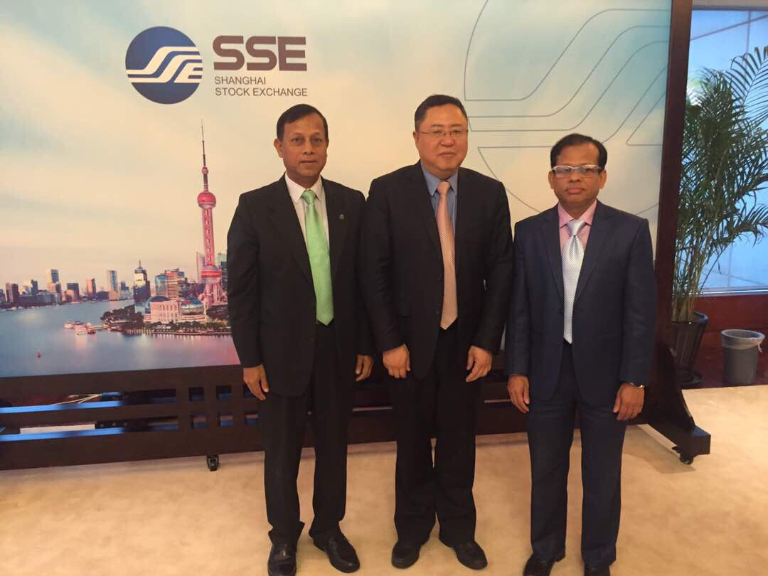 Major( Rtd.) Emdadul Islam ,Director-CSE, Mr. Huang Hongyuan ,President-SSE and Mr. M. Shafiur Rahman Mazumdar-Managing Director