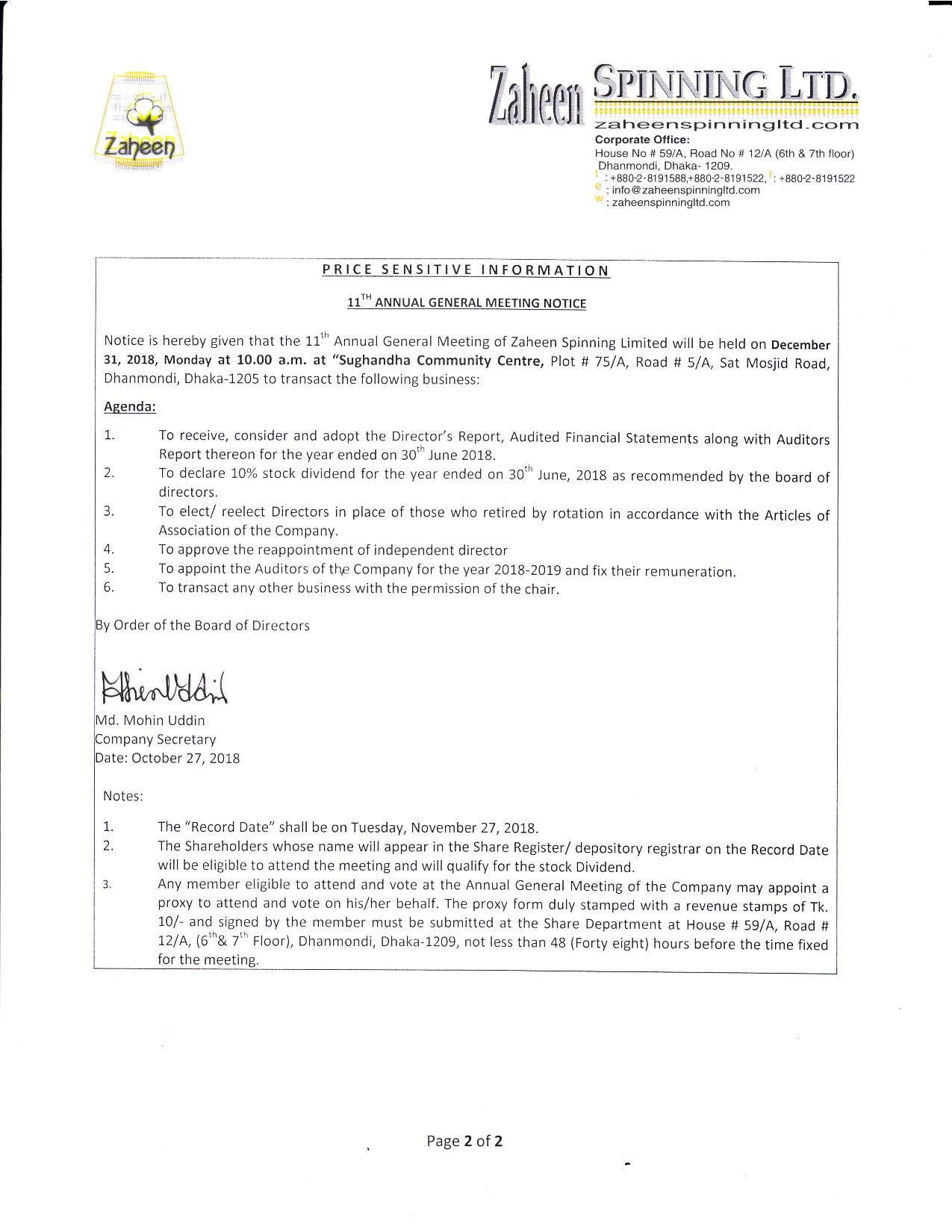 Price Sensitive information on AFS 27.10.2018-page-002