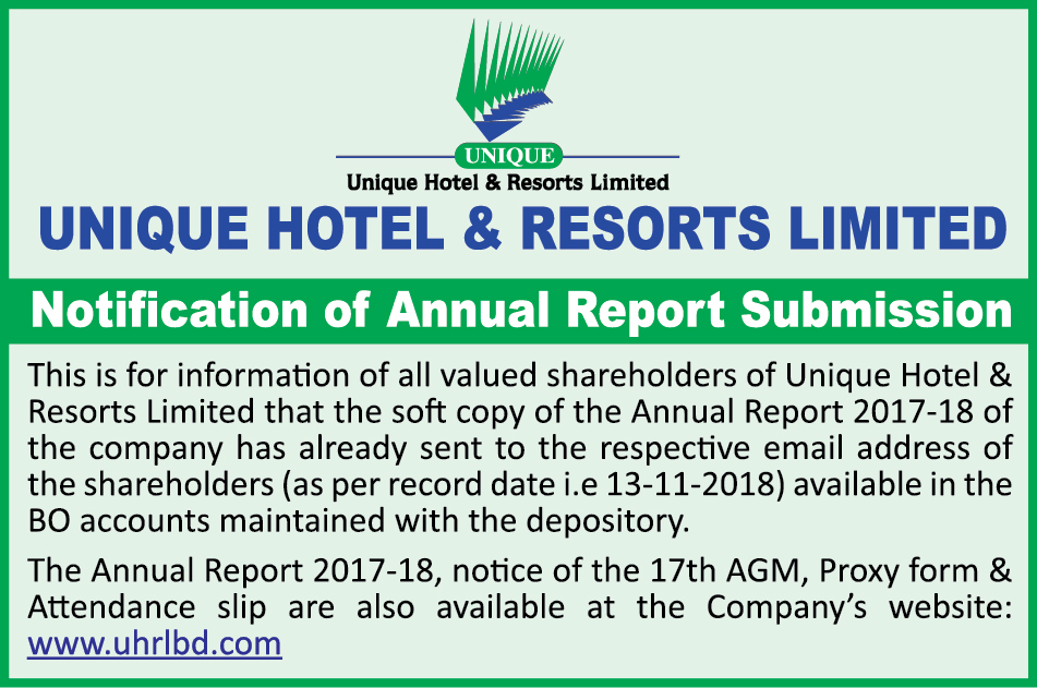 Unique Hotel & Resorts (Notification of Annual Report Submission)-26-11-2018. Color