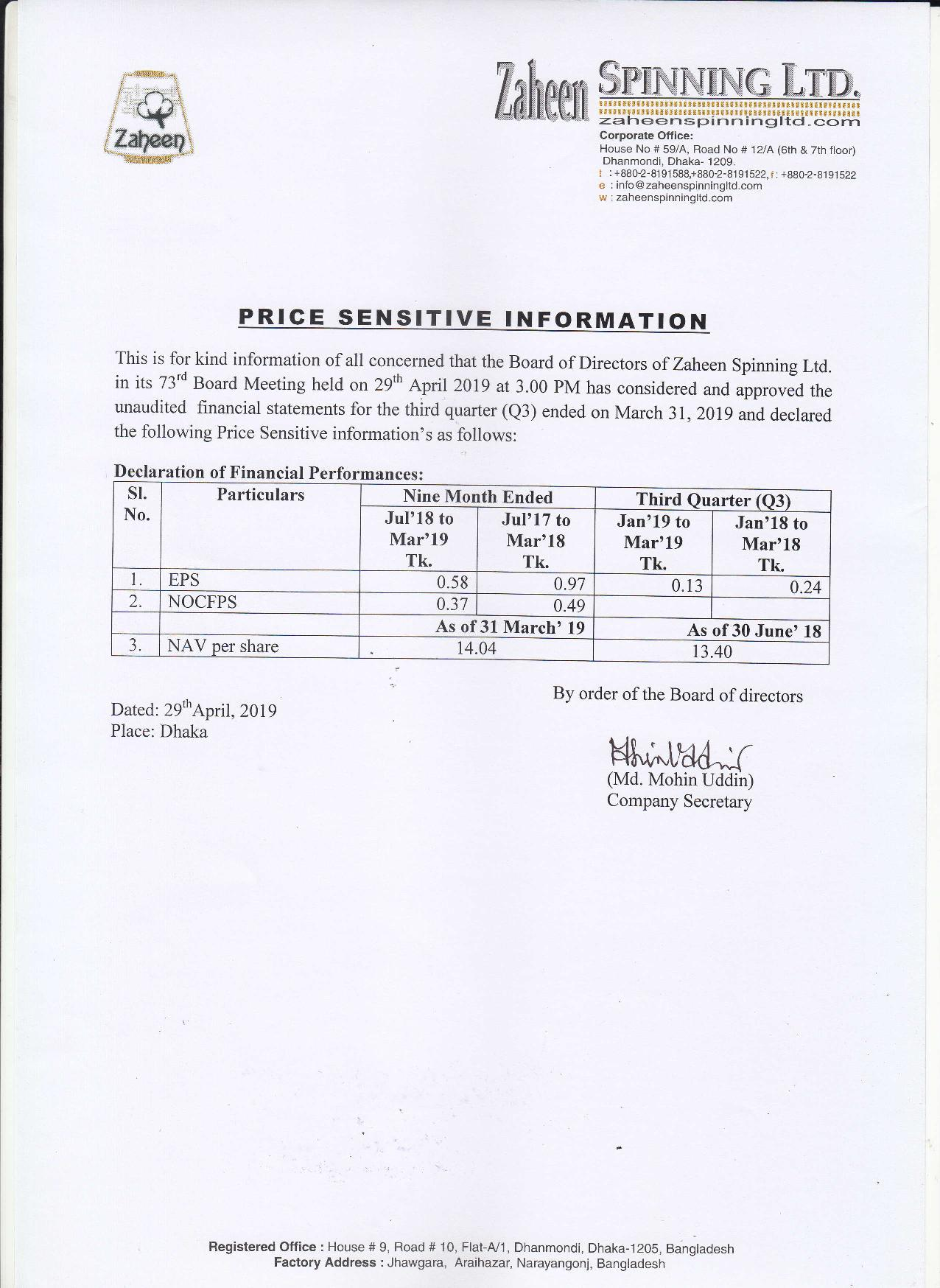 PSI on Un-Audited Q3 FS 2018-2019ZAHEEN-page-001