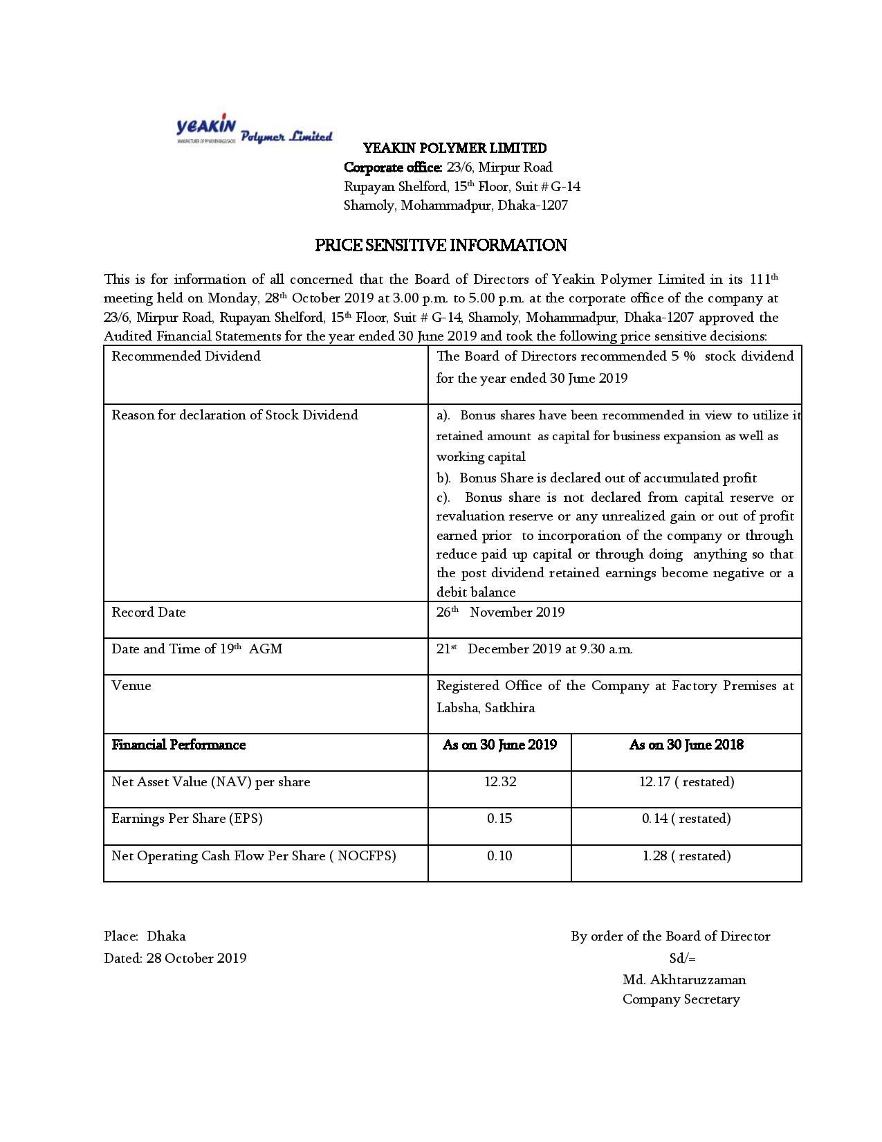 Price Sensitive Information 28.10.2019-page-001